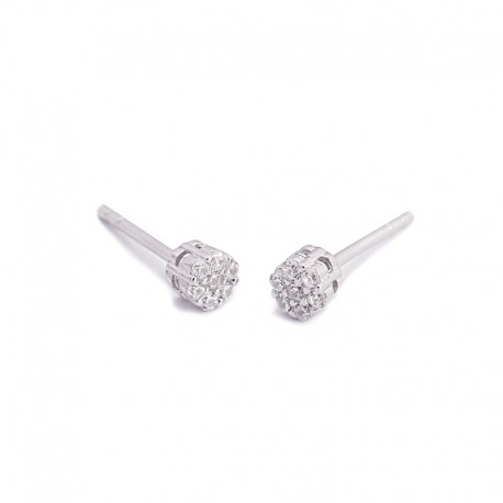 PENDIENTES MINI CIRCONITAS 4 MM PLATA