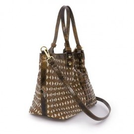 BOLSO SHOPPING MEDIANO TRENZADO MARRON/CRUDO